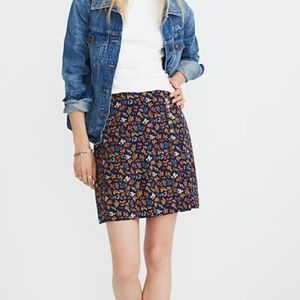 NWOT Madewell Side Button A-Line Floral Skirt
